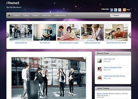 itheme2 wordpress theme free