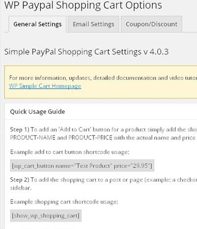 paypal shopping cart settings1
