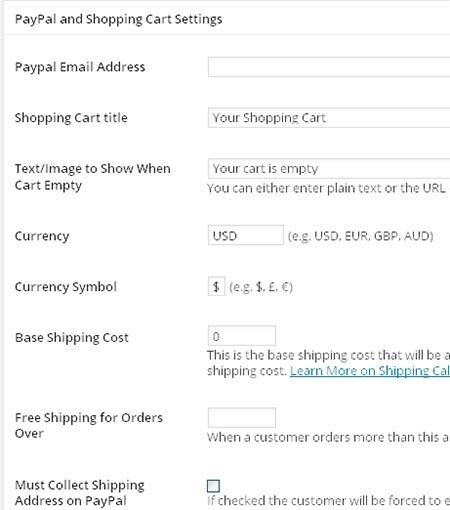 paypal shopping cart settings2