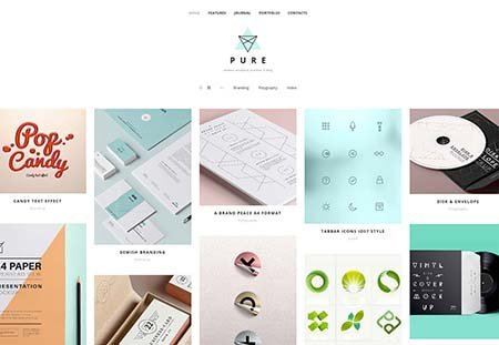 pure portfolio wordpress theme