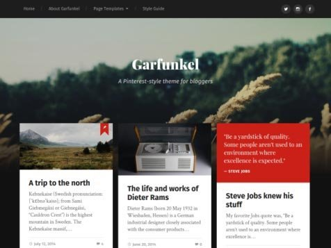 garfunkel-free-pinterest-style-wordpress-theme gratis