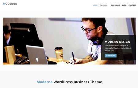 moderna download tema wordpress