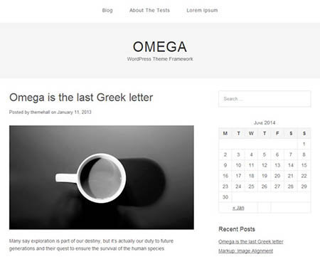 omega-free-wordpress-theme for blog