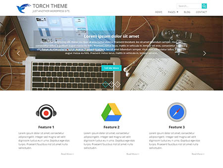 Tema WordPress Bisnis torch responsive free