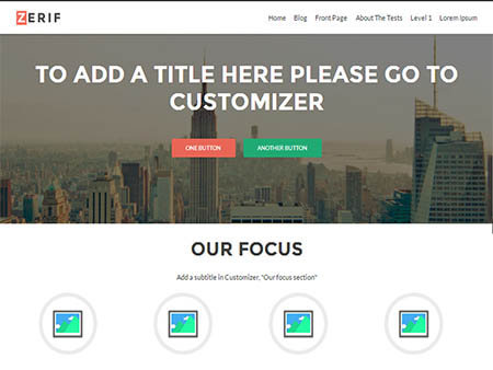 zerif lite responsive theme wordpress