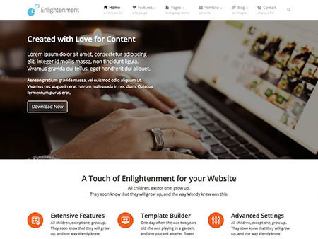 Enlightenmen theme wordpress gratis