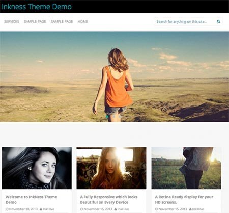 theme wordpress inkness responsive free
