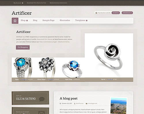 Artificer wordpress theme free