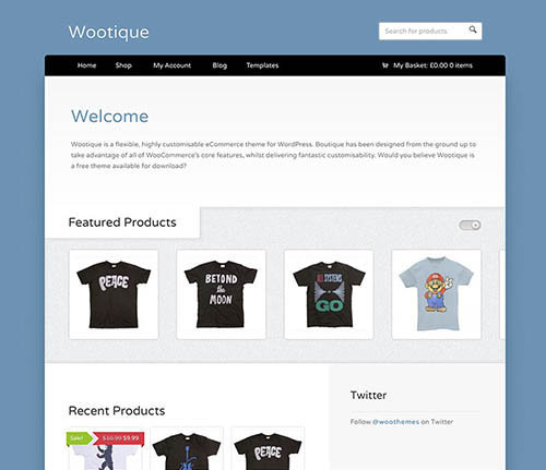 Wootique ecommerce theme free