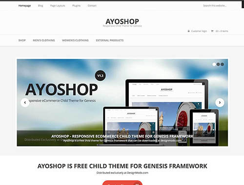 ayoshop-ecommerce-theme free