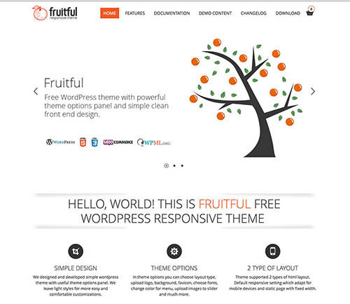 fruitful wordpress theme free