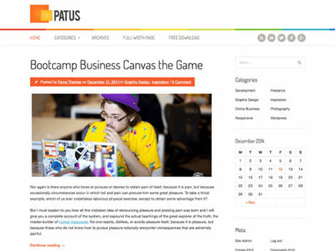 patus theme wordpress free download