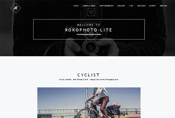 rokophoto lite theme wordpress gratis