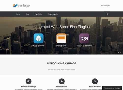 vantage corporate wordpress theme free