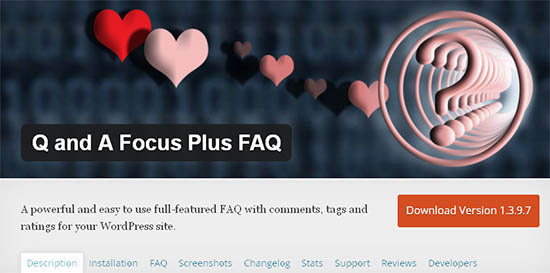 QA focus plus FAQ