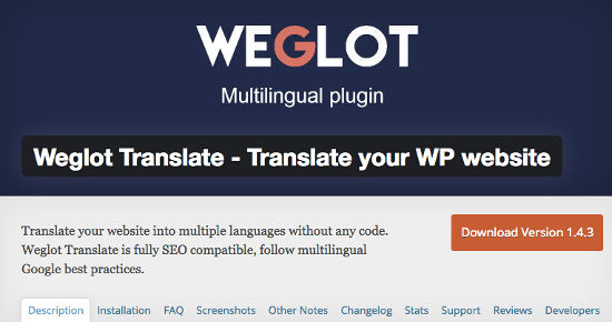 Weglot Translator WordPress