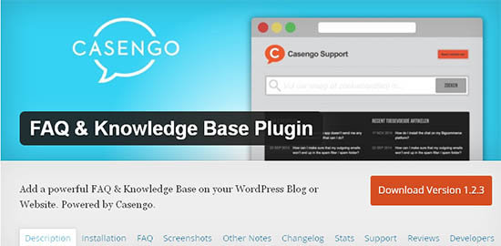 faq knowledge base plugin