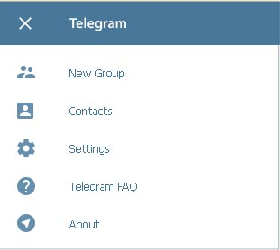 menu telegram web