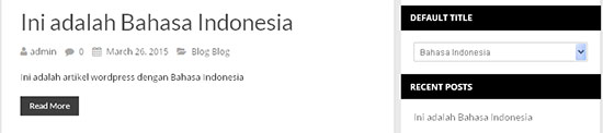multibahasa indonesia wordpress