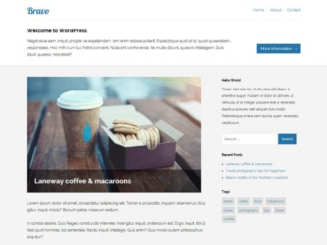theme wordpress bravo responsive free