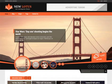 theme wordpress new lotus