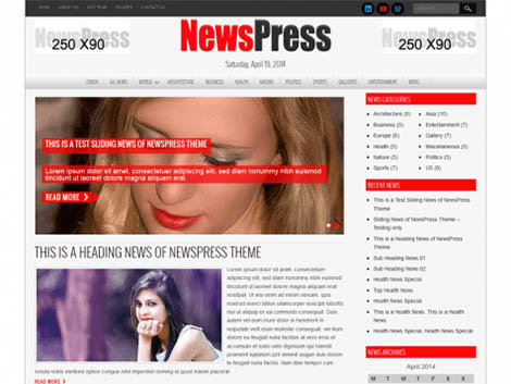 theme wordpress newspress free