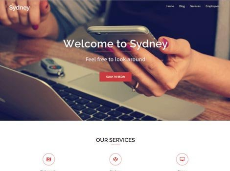 theme wordpress sydney responsive free