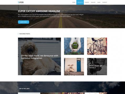 theme wordpress zifer responsive free