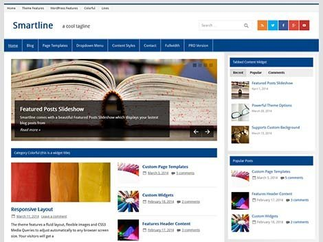 wordpress smartline lite themes free