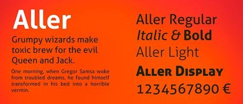 webfonts google aller