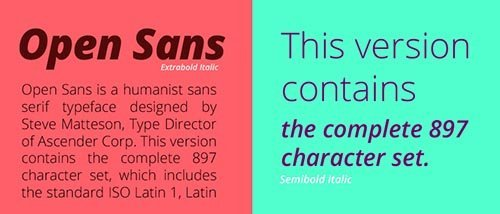 webfonts google open sans