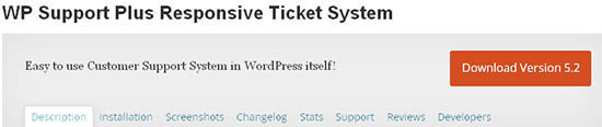wp support ticket system