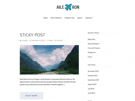aileron theme wordpress free