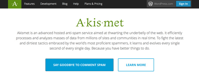 akismet anti spam wordpress