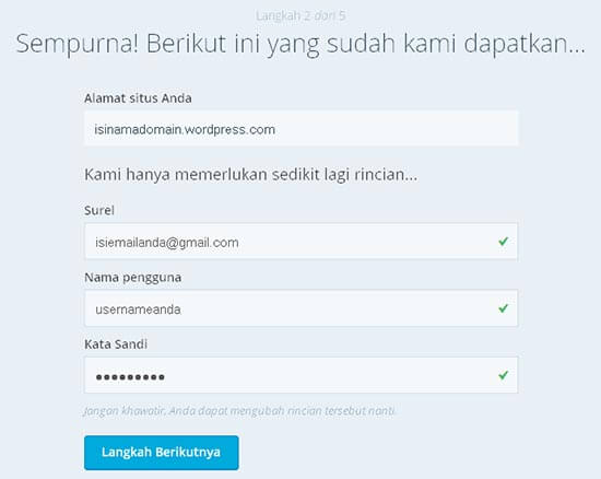 membuat blog gratis wordpress3