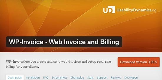 plugin wp invoice