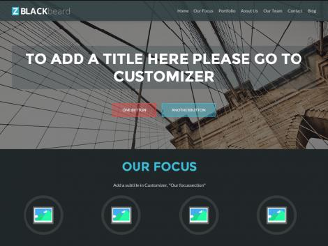 theme wordpress Zblackbeard responsive
