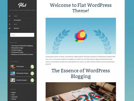 theme wordpress flat responsive