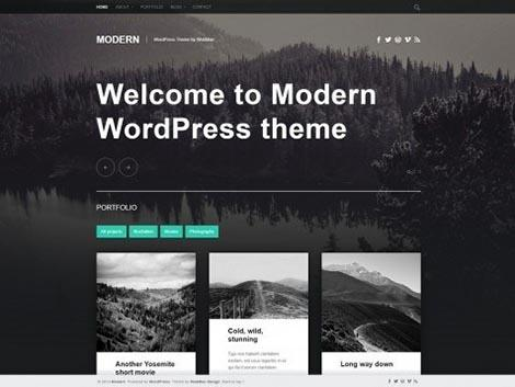 theme wordpress modern responsive
