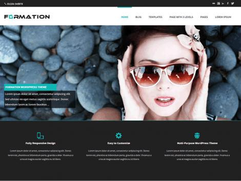 theme wordpress responsive formations