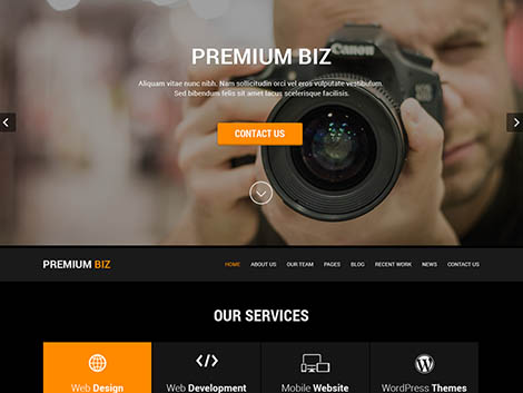 theme wordpress skt black responsive