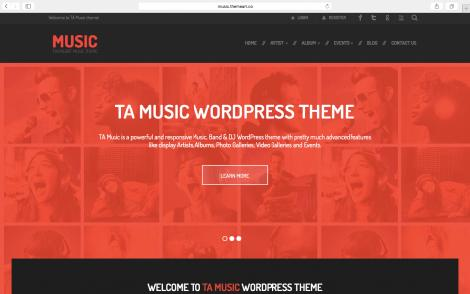 theme wordpress ta-music-free