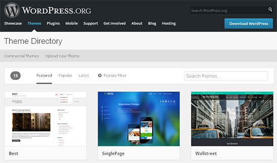 themes directory wordpress