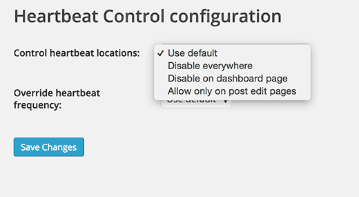 heartbeat-control-settings plugin