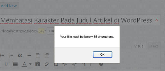 popup limit judul