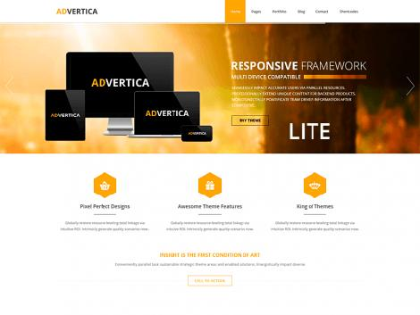 theme wordpress advertica responsive free