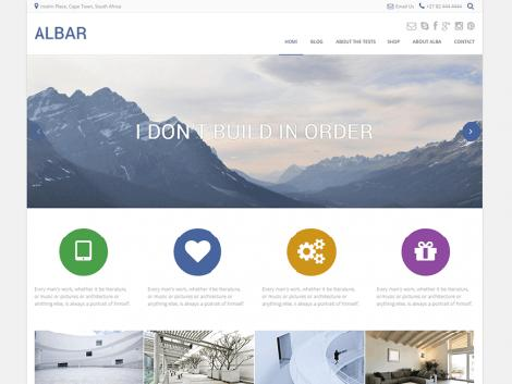 theme wordpress albar free