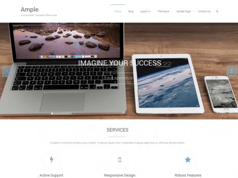 theme wordpress ample responsive free