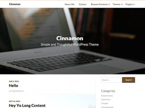 theme wordpress cinnamon