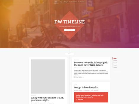 theme wordpress dw timeline free